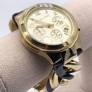 Michael Kors Tortoise and Gold Links Watch MK4222